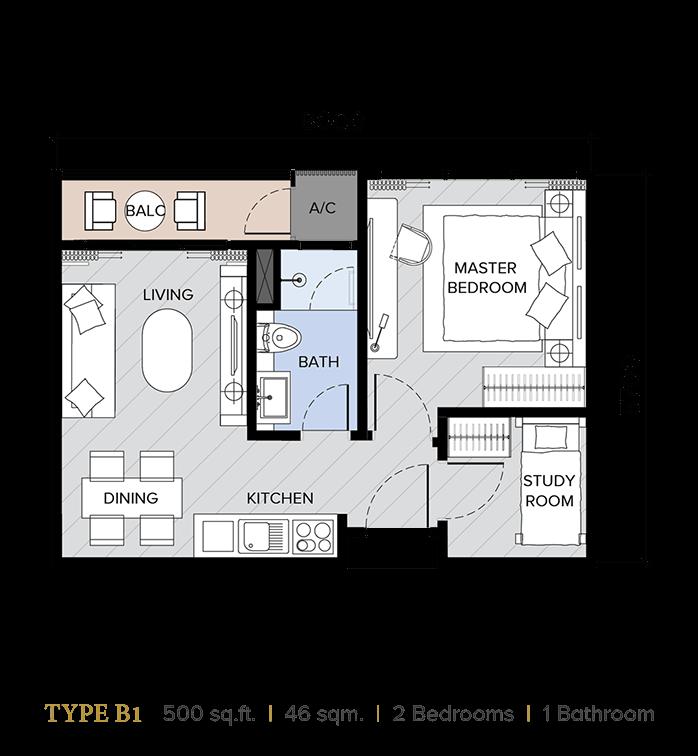 ion majestic floor plan B1