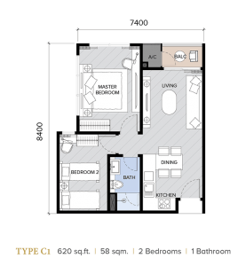 ion majestic floor plan C1