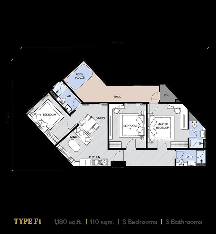 ion majestic floor plan F1